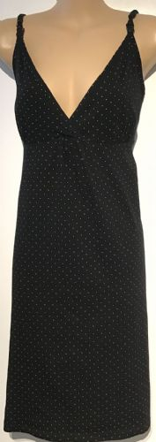 BLOOMING MARVELLOUS MOTHERCARE BLACK SPOTTY NURSING NIGHTIE/NIGHTDRESS SIZE M 12